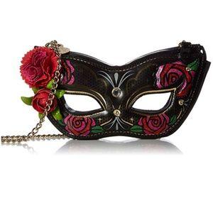 Betsey Johnson masquerade mask purse